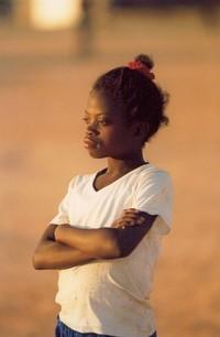 Girl in african dust