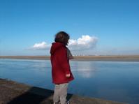 sky sea girl