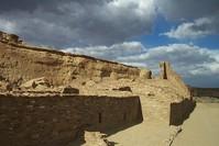 Pueblo Bonito ruins in evening