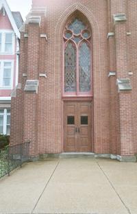 outside the church, i