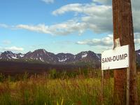 sani-dump sign