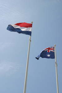 Dutch and Australian flags