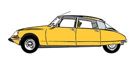 Illustration of a classic Citroen