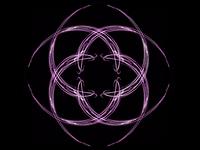 Purple geometric ornament