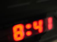 Clock at 8:41
