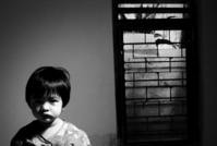 a boy and a window