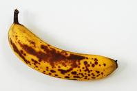 Ripe banana close crop