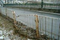 Deformed fence