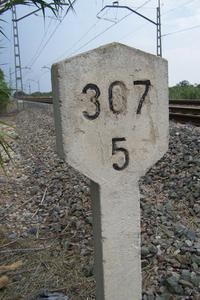 Sign railway