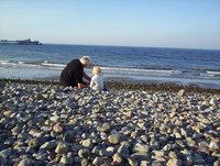 Grandad's stories on the beach