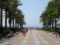 Avenue in Nerja (Malaga)