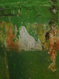 painted tin surface