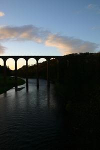 Tweed Viaduct at Dusk