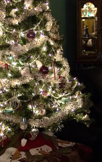 Crystal and silver Christmas tree