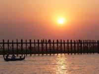 Sunset at U Bain's bridge, Mandaley