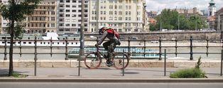 Gasmask biker