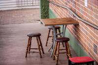 Sidewalk stools & table