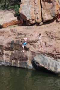 Cliff Jumping at Inks Lake