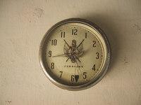 Battered clock