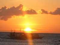 sunset and boat 1