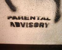 Parental Advisory graffiti