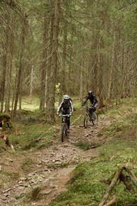 Mountain bikeing