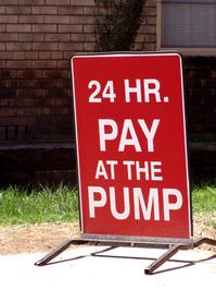 Sign: Pay at the Pump