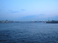 Evening over the Neva river