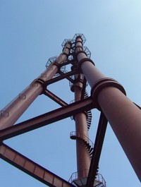Industrial efflux tower