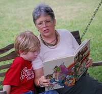 Grandma reading - front close