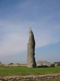 Cross on a menhir