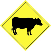 Warning sign - animal 2