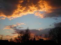 Dark Orange sky