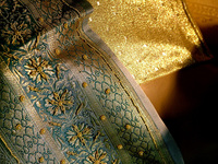 Sari // Woven Golden Fabric