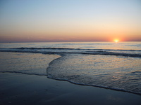 sunset belgian coast