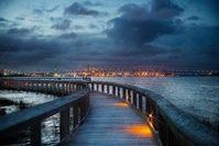 North Charleston Riverfront Park at Night