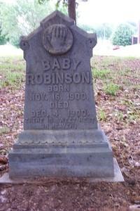 baby's tombstone