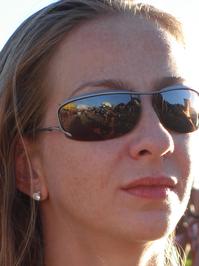closeup of a blond girl