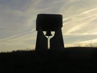 church bell in sunset