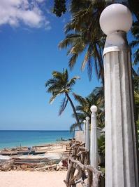 Beach Light Pillars