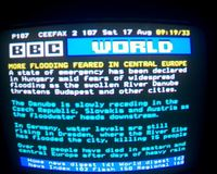 BBC News on the teletext