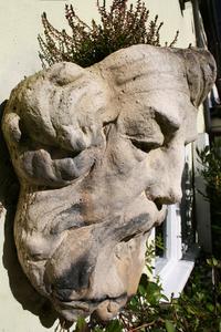 Stone man profile