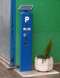 Solardriven parking meter