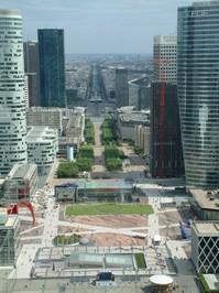 View from La Defence, Paris, F