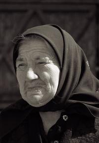 Old romanian woman