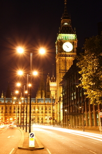 Play of lights in Westminster
