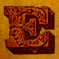 printed letter E