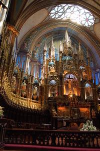 Sun Rays into Notre Dame Basilica