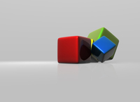 Colored cubes 3