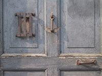 Old door CU